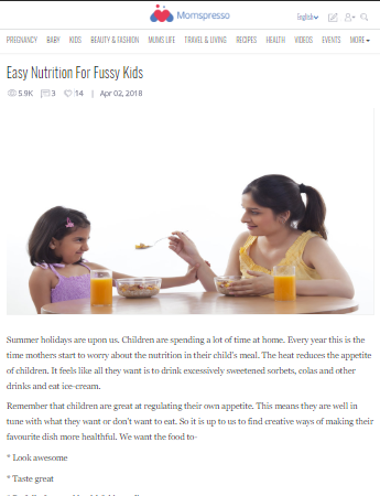Easy Nutrition For Fussy Kids