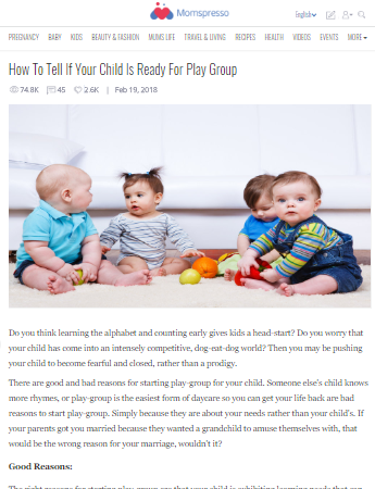 How To Tell If Your Child Is Ready For Play Group